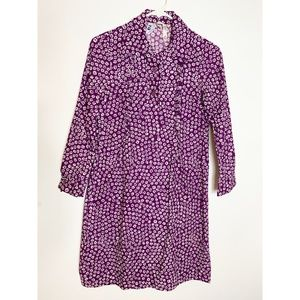 Marimekko Finland Vintage Purple Floral Dress